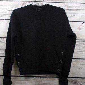 Rag & Bone S/XS Navy Wool Pull Over Sweater Shrunk